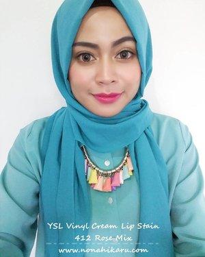 @yslbeauty Vinyl Cream Shade 412 Rose Mix. - This is my favorite color😍😍. Warna coral nya cocok pake buat dipake daily. Bikin wajah jadi keliatan fresh tapi tetep natural. Shade ini menurutku lebih cocok untuk kamu yang memiliki warna kulit kuning langsat kaya aku. - Untuk review lengkapnya bisa cek di  http://www.nonahikaru.com/2016/10/review-ysl-vinyl-cream-lip-stain.html?m=1  #clozetteid #vinylcream #lipstain #instagood #instalike #blog #beautyblogger #lip #blogger #bloggers #makeupartist #makeup #makeupjunkie #lipstick #femaleblogger #dailymakeup #emakemakblogger #fdbeauty #femaledaily #coral #natural #naturalmakeup
