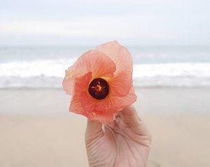 Jangan lupa bahagia 😘 Enjoy your day, guys 😘  #Bali #beach #beachsand #sea #wave #bluesea #flower #travel #traveler #travelling #trip #wonderfulIndonesia #pesonaIndonesia #clozetteid #clozetteambassador