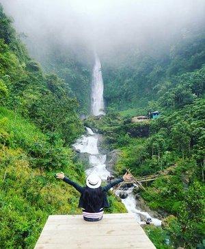 Thank God I've seen this incredible Curug Bajing😍 #PesonaPekalongan #PesonaIndonesia  Adanya di kawasan lindung Petungkriyono, Negeri di atas awan. Perjalanan ke sana akan melewati hutan lindung Petungkriyono yang indah dan masih natural. Jadi, kalau kamu suka fotografi atau foto untuk koleksi instagram, perjalanan 2 jam dari kota Pekalongan ini tak akan merugikan karena banyak sekali spot yang instagramable!  Ada pinus khas Petungkriyono yang warnanya oranye beda dengan yang lain, ada banyak air terjun kecil dan sungai berarus deras yang airnya berwarna biru, ada juga owa, binatang khas Petungkriyono yang mirip kera. Ada banyak sawah terasiring yang indah, banyak perkebunan sayur-sayuran seperti wortel, tomat, kentang, dan sayuran lainnya. Bahkan hutan pinus yang berkabut pun jadi sangat instagramable karena warnanya jadi naturally monochrome.  Yang pasti pemandangannya instagramable banget sepanjang jalan 😉 #tourism #pariwisata #Indonesia #wonderfulIndonesia #curugbajing #petungkriyono #explorepekalongan #travel #traveling #traveler #trip #photooftheday #pictureoftheday #nature #naturelovers #waterfalls #clozetteid