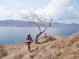 At some point, you have to realize that some people can stay in your heart, but not in your life~ #pesonaIndonesia #saptanusantara  @ Komodo island Go to Pink Beach, and find the hill! #komodo #island #hill #blue #sea #dry #twigs #branch #sky #travel #travelling #traveller #traveler #sneaker #hat #tshirt #shortjeans #pond #ootdindo #ootdshare #clozetteambassador #ClozetteID @clozetteid #travelinstyle #tourism #Indonesia #wonderfulIndonesia #photooftheday #cloud