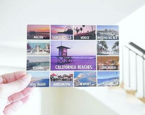 """""""Oh, the places I'll go!"""" When I received a beautiful postcard from a friend in California today😍😍 Thank you so much, dearest Sabrina. That's the place I dream of 😘 I wish I can travel there someday 😍😍 You know what..there's something magical about postcard 😍 #postcard #California #unitedstates #America #usa #abroad #friend #travel #traveller #traveler #traveling #dream #wish #magic #clozetteid #clozetteambassador"""