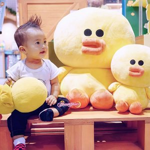 Maa Shaaallaah, My Lil Duck Lover. Duck Observer. Duck Expert. LOL #ArchieZayden #MoonFamily🌙 [Throwback, when he was 8 Month Old ✨🙌🏻]...#LineFriends #LineStore🐤