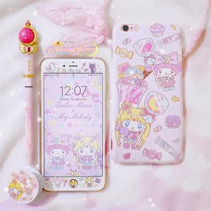 Here's my 2.5-year-old phone, currently covered in sailormoon x my melody unlicensed accessories 😭💖 (cry because they're unlicensed but they're so cute and practical) . I wish the next time I need to replace them, I'll find some sailor moon official accessories that fit my phone and my style! . PS: I actually prefer sailormoon-ish aesthetic design, without really having the picture of sailor moon as a person in it. As for these ones, I just happened to find them as a set (case, screen protector, home button sticker, pop socket) in a thrift shop when I was really in need to replace my broken phone case & screen protector because I already saw scratches on my phone and couldn't wait any longer😭 . . #sheemasherrysailormoon
