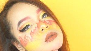 Disaat semua rame bikin #lathichallenge aku malah lagi anteng mainan face paint 🤣Tutorialnya udah up di youtube aku! Klik link di bio ❤#maroonart #tutorialmakeup #artmakeup #tutorialmakeupart #beautyvloggerindonesia #clozetteid