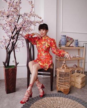 Happy Monday!! Still in the mood for CNY ❤️🍩🍊 . . . - 📸 @priscaangelina . . . . . #style #fashion #whatiwore #cny2021 #clozetteid #joy #girls #friends #red #lunarnewyear #explore #pomelogirls #collabwithstevie #exploretocreate #ootd #love #zalorastyleedit