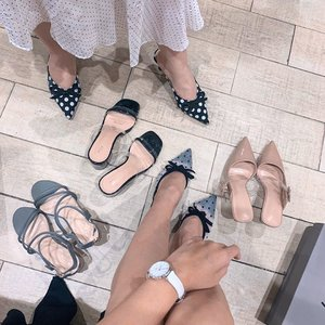Shopping with my bestie 🛍 having our moment falling for @ncyshoes new collection: polka dot mules 😍 Both of us agree that a good pair of shoes should look pretty and feel comfortable! ........ ..#style #clozetteid #ncyshoes #andseewhy #polkadots #zaloraid #fashion #whatiwore #steviewears #collabwithstevie #fashionpeople #zalorastyleedit #love #shotoniphone