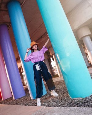 Guess where? 💕 so happy to find this place, the colours simply put a smile on my face 🎉 . . - Wearing top & pants from @shopatvelvet // you can find it on @zaloraid as well, quote ZLRSTEVIE to get additional 15% off 😘 . . . . . . . . . #photooftheday #ootdfashion #ootdindo #wiwt #ootdmagazine #ootdsubmit #outfit #pink #lookbook #lookbooknu #lilac #ootdstyle #ootdinspiration #lookbookindonesia #fashionblogger #stylefashion #streetfashion #streetstyle #streetinspiration #qotd #potd #zalorastyleedit #steviewears #clozetteid