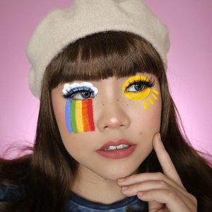 Somewhere over the rainbow 🌈☁️☀️ . Inspo : @christiana.gabriele @visiblejune . Lip : @luxcrime_id Berry Blossom Eyelashes : @fabulashes.official Emma Face Paint : @officialsnazaroo @mehronmakeup . #slave2beauty #makeupoftheday #allmodernmakeup #aestheticmakeup #aesthetic #artmakeup #makeupart #beautybloggerindonesia #motd #flovivi #ClozetteID #cchannelbeautyid #aestheticgrunge #softgirl #undiscoveredmuas #worldwidemua #wakeupandmakeup #cchannelmakeupid