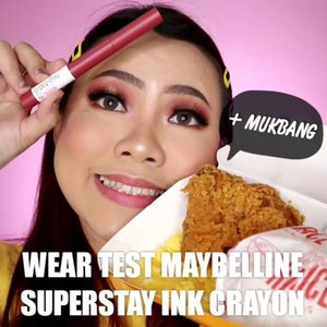 [WEAR TEST] Maybelline Superstay Ink Crayon New Shades Pink Edition yg nomer 85 @maybelline Cuakepp warna nya ya 😍 Kira kira tahan ga ya buat makan @mcdonaldsid ? Wkwkwkw . Next kalian mau di buatin wear test apa lagi guys ? Komen ya ! . . . . . . 🎥Camera Canon EOS M100 🎛️Edit with @vivavideoapp Pro . . . . . . . #makeupoftheday #tutorialmakeup #Tutorialdandan #makeuptutorial #tutorialmakeup #indobeautygram #makeupoftheday #beautybloggerindonesia #motd #popbelabeauty #flovivi #ClozetteID #cchannelid #cchannelbeautyid #undiscoveredmuas #worldwidemua #mnyitlook #PinkOnFleek #BBIxMaybellineIndonesia  #wakeupandmakeup #tipsskincare #skincare #cchannelmakeupid @tampilcantik @tips__kecantikan @tutorialmakeup_id @ragam_cantik @meriaswajah @syantiktutorial @ragam_kecantikan @zonacantikwanita @101_turorialmakeup @makeupsyantik @inspirasi_cantikmu @wowsyantik @elpeach_beauty @eliberry_beauty