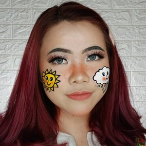 Kalian lebih prefer Sunny Days ☀️ ato Rainy Days🌧️ ? . Inspo : @sn0ok . Face paint nya pake @officialsnazaroo & @mehronmakeup Lipcream nya @eminacosmetics yg Fuzzy Wuzzy . . . . #tutorialmakeup #makeuptutorial #makeupoftheday #motd #indobeautygram #cchannelid #cchannel #flovivi #ClozetteID #beautycontentcreator #BeautyBloggerIndonesia