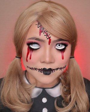 👧🏼CREEPY DOLL👧🏼 HALLOWEEN CHALLENGE DAY 3/31 🎃 #31daysofhalloween 🎃 🖤 #HALLOWEENWITHFLOVIVI 🖤 . . . #halloween #halloween2020 #halloweenmakeup #halloween2k20 #halloweenmakeupchallenge #makeupoftheday #makeuphalloween #halloweenedition #motd #flovivi #clozetteID #cchannel #cchannelid