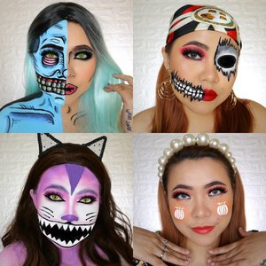 RECAP DAY 17-20🎃 #31daysofhalloween  Favorite kalian yg mana ? . #wakeupandmakeup #halloween2019 #halloweenmakeup #halloween2k19 #halloweenmakeupchallenge #makeupoftheday #makeuphalloween #halloweenedition #motd #flovivi #clozetteID #cchannel #cchannelid #100daysofmakeup