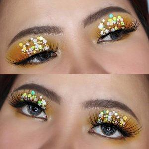 Yellow Confetti ✨💛🎉 . Produk yang dipake: • Eyeshadow @ucanbemakeup • Eyebrow @viva.cosmetics • Glitternya aku gatau dulu beli di shopee itu buat kuku harusnya haha . . . . . . . #makeupoftheday #tutorialmakeup #Tutorialdandan #makeuptutorial #tutorialmakeup #indobeautygram #makeupoftheday #eyeshadowpalette #eyeshadowlooks #eyeshadow #eyeshadowtutorial #beautyglazed #beautybloggerindonesia #motd #popbelabeauty #flovivi #ClozetteID #cchannelid #cchannelbeautyid @tampilcantik @tips__kecantikan @tutorialmakeup_id @ragam_cantik @meriaswajah @syantiktutorial @ragam_kecantikan @zonacantikwanita