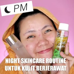 NIGHT SKINCARE ROUTINEUNTUK KULIT BERJERAWAT.Produk :@npureofficial Centella Asiatica Toner@avoskinbeauty Hydrating Treatment Essence@clinelleid Firming Eye Serum@hicharis_official Charis M+@trilogy_id Rosehip Oil@uriageid Lip Balm.....🎥Camera Canon EOS M100🎛️Edit with @vivavideoapp Pro🎶Any Song - Zico (Ferry Remix)......#makeupoftheday #tutorialmakeup #Tutorialdandan#makeuptutorial #tutorialmakeup #indobeautygram #makeupoftheday #beautybloggerindonesia #motd#popbelabeauty #flovivi #ClozetteID #cchannelid #cchannelbeautyid@tampilcantik @tips__kecantikan @tutorialmakeup_id @ragam_cantik @meriaswajah @syantiktutorial @ragam_kecantikan @zonacantikwanita