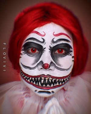 Will you come play with me ? Please... 🤡 Jujur aku editnya takut banget 🤡😹 . ⚠️trigger warning buat yg phobia badut⚠️ 🎃 #31daysofhalloween 🎃 🖤 #HALLOWEENWITHFLOVIVI 🖤 . . . . #halloween #halloween2020 #halloweenmakeup #halloween2k20 #halloweenmakeupchallenge #makeupoftheday #makeuphalloween #halloweenedition #motd #flovivi #clozetteID #cchannel #cchannelid