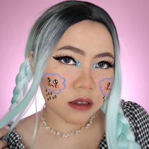 😢🌧️ . Tiap hujan pasti bawaan nya sendu. #anjay 😌🤣 . Inspo : @cydneyxcx . . #slave2beauty #makeupoftheday #allmodernmakeup #aesthetiakeup #aesthetic #artmakeup #makeupart #beautybloggerindonesia #motd #flovivi #ClozetteID #cchannelbeautyid #undiscoveredmuas #worldwidemua #wakeupandmakeup #cchannelmakeupid