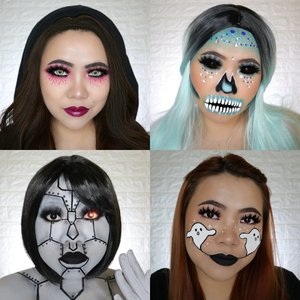 RECAP DAY 13-16🎃 #31daysofhalloween  Favorite kalian yg mana ? . #wakeupandmakeup #halloween2019 #halloweenmakeup #halloween2k19 #halloweenmakeupchallenge #makeupoftheday #makeuphalloween #halloweenedition #motd #flovivi #clozetteID #cchannel #cchannelid #100daysofmakeup