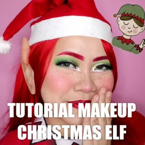 Tutorial Makeup Christmas Elf 🎄 Moga kalian suka nih wkwk . • Moisturizer Easy Peasy @hicharis_official • Foundation @makeoverid • Eyeshadow @imagicaliexpress • Lip @brunbrun_paris • Facepaint @officialsnazaroo • Softlens EOS Briller Green • Eyelashes @abstractbeautyid P3 • Glitter , Blush Trio @byscosmetics_id • (Spotted) Acrylic Storage from @babamushop . #wakeupandmakeup #christmas2019 #christmasmakeup #christmas2k19 #adventcalendar #christmasmakeuplook #christmasmakeupchallenge #countdowntochristmas #makeupoftheday #makeupchristmas #christmasedition #motd #flovivi #clozetteID #cchannel #cchannelid #aestheticmakeup
