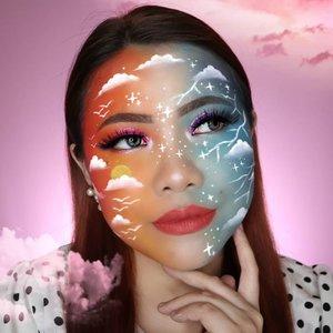 Another ☁️☁️ Look Recreate : @sarinanexie . . Lipstick yg dipake : SELFCODE Code:Red Soft Lipstick bisa dibeli di CHARIS SHOP aku yah.... Link on bio. Lagi diskon!!! @hicharis_official . . #aestheticmakeup #aesthetic #artmakeup #makeupart #flovivi #aestheticgrunge #softgirl #art #snazaroo #mehron #ClozetteID #CHARIS #charisceleb @charis_celeb