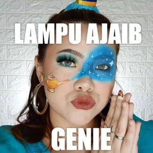 THE TUTORIAL 🧞♀️Ga detail banget sih haha soalnya blm jago Makeup art sambil di filming gue kederrr 🤭.Inspired by @llumosmakeup.Gampang gampang susah yee hahaha 🤭Deets :@altheakorea Bare Face Essentials@revlonid Colorstay Foundation 220@thesaemid Concealer@maybelline Fit Me Loose Powder 10@purbasari_indonesia Oil Control  Powder Honey Beige@lakmemakeup Duo Blush@thebalmid Take Home The Bronze Oliver@byscosmetics_id Glitter Liner Silver@luxcrime_id Highlighter@lakmemakeup x @anggierassly Marble Eyebrows@officialsnazaroo Face Painting@beautyglazed @morphebrushes Eyeshadow@zoyacosmetics Lipcream (Deep Claret).#flovivi #clozetteID #bunnyneedsmakeup #wakeupandmakeup #indobeautygram @tampilcantik @setterspace @cchannel_id @cchannel_beauty_id