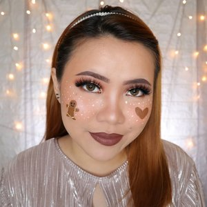 GINGER BREAD COOKIES CHRISTMAS CHALLENGE DAY 7/25 🎄 #25daysofchristmas 🎄 . Auto laper 😫 . • Facepaint @officialsnazaroo • Lip @absolutenewyork_id Perfect Pair Duo Melted Chai • Eyeshadow @beautyglazed Eyeshadow Tray . #wakeupandmakeup #christmas2019 #christmasmakeup #christmas2k19 #adventcalendar #christmasmakeuplook #christmasmakeupchallenge #countdowntochristmas #makeupoftheday #makeupchristmas #christmasedition #motd #flovivi #clozetteID #cchannel #cchannelid