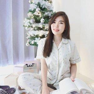 Mood for comfy pajama, nice book, and Christmas songs 🎄. - Pajama set from @viakara - #sleepwear #Christmasmood #collaboratewithcflo #ClozetteID