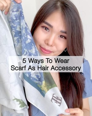 5 Ways To Wear Scarf as Hair Accessory. No 2 & 4 are the recent trends in fashion! ✨Style favorit kamu yang mana? Udah pernah coba sebelumnya? 😉 #stylingideas #hairstyling #hairtutorial #ClozetteID #fashionhack