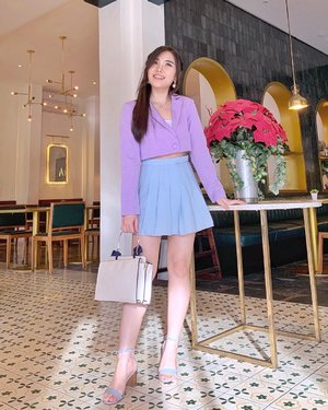 Still in the mood of soft color palette 💖.  #styleinspiration #fashionbloggerindonesia #ClozetteID