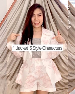How do you style your jacket ? Let's comment down below! 😋. Have a blessed Sunday btw!  Skylar Jacket + Shorts + Bucket Hat : @esye_official .  #stylingtips #stylingideas #stylingvideos #fashionbloggerindonesia #outfitideas #ClozetteID