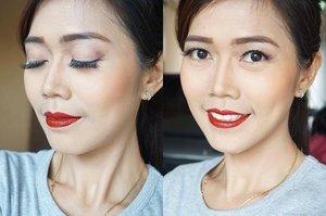 Good morning... Natural eye makeup & bold lips menggunakan @sariayu_mt #TrenWarnaKrakatau eyeshadow K02 & Duo Lip Color Matte K01 💋  Werna eyeshadownya bisa untuk sehari-hari ataupun modern dan lipsticknya yang cetar ini baguuus banget moist dan tahan lama kalau mau glossy juga bisa banget kan ada dua matte & glossy dalam 1 kemasan.  Baca review aku di http://www.beautydiarykania.com/2016/03/color-trend-2016-sariayu-martha-tilaar.html  #beauty #blogger #beautyblogger #beautybloggerid #indonesianbeautyblogger #clozetteid #clozetteambassador #makeup #motd #potd #instamakeup