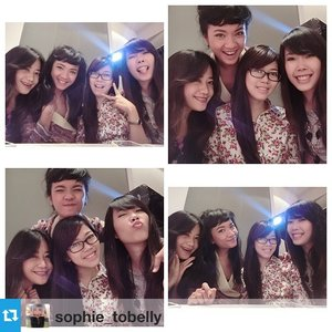 #Repost from @sophie_tobelly with @repostapp --- Having fun with my girls @leonisecret @beautydiarykania @sijessie at @benefitcosmeticsindonesia #ROLLWITHINDO  #clozetteid #clozettegirl #clozetteambassador #fashionblogger #lifestyleblogger #beautyblogger #indonesianblogger #jakartaevent