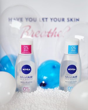 Have you let your skin breathe?  Yeay... today is launching Nivea MicellAIR Skin Breathe 🎉. Congrats 🎊But so sad I can't to attend this event. 😭 . The magical power of NIVEA MicellAIR SKIN BREATHE® micellar water. This all-in-1 make-up remover:  1. removes make-up effectively  2. gently & deeply cleanses  3. refreshes without leaving residue on your skin. . The gentle yet effective formula can be used on face, eyes and lips. No rinsing. No perfume. No rubbing. Gentle for eyelashes. . HOW IT WORKS? Coming soon on my blog! . #cleansedbynivea #skinbreathemoment #skinversation #fdbeauty #niveaindonesia #niveainfluenster #beauty #skincare #clozetteid #skincareaddict #beautyregimen #nivea