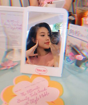 Earlier today at The Ultimate Beauty Tools Guide and Launching event of @stylenoble.id 🌸. -Introducing these super interesting and effortless beauty tools brought specially to us all the way from japan ✨can't wait to try em ! @femaledailynetwork #FDxStyleNoble #Stylewithnoble #Stylenoble