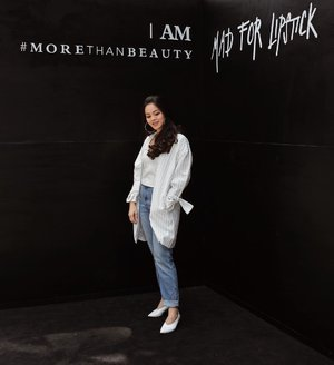 I am #MORETHANBEAUTY @madforlipstick #MFL #breakthestandard📸: @mariaistella