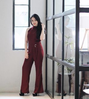 A piece of yesterday's, wearing Luna Jumpsuit in Maroon by @cloth_inc #iwearclothinc #tiffstylediaries . #SariayuBloggerGathering2017 #Sariayu  #AkuCantikIndonesia #BanggaCantiknyaIndonesia #TrenWarnaGiliLombok  #LiquidBeauty  #BeWonderfulMovement #WonderfulIndonesia