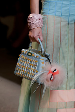 An evening version of the spectacular bags that hit the runway at Fendi.  Read more: http://stylecaster.com/best-bags-spring-2015/#ixzz3TZe7Gsv1