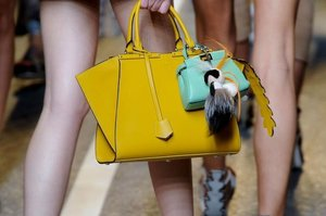 FENDI: Because not only  you do need a new day bag for spring, you also need a gorgeous miniature bag to go along with it.   Read more: http://stylecaster.com/best-bags-spring-2015/#ixzz3TZchhWMq