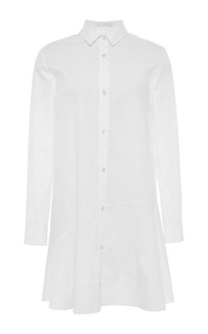 A Tailored Shirtdress Shirtdresses are here to stay this year, and we couldn't be happier. What makes 2015's silhouettes modern is the tailoring. Asymmetrical hems, nipped-in waists, and elegant midcalf lengths make this band of cotton dresses much more thoughtful than last year's oversize boyfriend style.