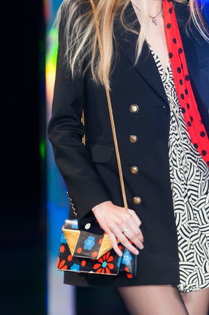 "The boxy ""it"" bags on the runway at Saint Laurent were all about flower power.   Read more: http://stylecaster.com/best-bags-spring-2015/#ixzz3TZet6R2U"