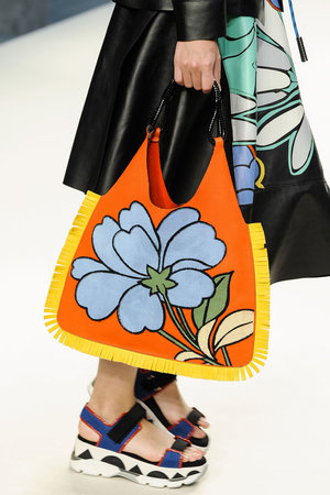 Floral illustrations were a big trend on the runways this season, even making an appearance on the bags at Marni  Read more: http://stylecaster.com/best-bags-spring-2015/#ixzz3TZlXl82X
