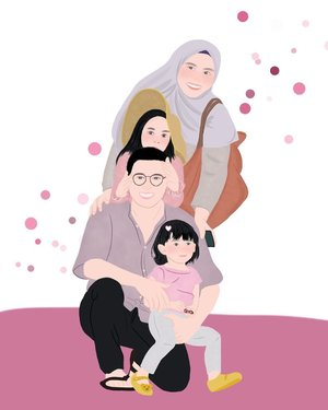 Waiting for the world to heal, and spending more time with my love one 💖   Thank you for illustration @xxzillaa_ DM for open commission illustration ☺️  #family #stayathome #familyillustration #clozetteid #loveofmylife #familytime