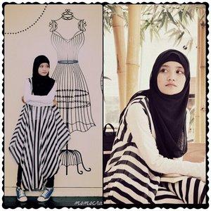 Reupload by requestPhoto by @momocraig08 Place @LivingWorld Mall alam sutraThanks for support me #clozetteid#HOTD #BackToBlack #fashion #hijabfashion #hijabindonesia #visittangerang