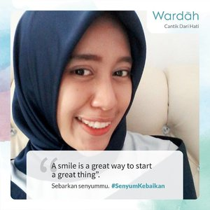 Hai Ladies, yuk ikut berbagi #SenyumKebaikan bersama @wardahbeautyKunjungi senyumkebaikan.wardahbeauty.com (link on bio) dan rayakan bulan kemenangan dengan penuh senyuman bersama WardahSelamat Menunaikan Ibadah Puasa, Ladies!Sambut bulan Ramadan dengan SenyumKebaikan melalui kecantikan dari hati.Melalui sebuah senyuman kita dapat mengalirkan energi positif dan menebarkan kebaikan, Ladies.#SenyumKebaikan #CantikDariHati #dailyhijab #hijabootdindo #lookbookhijab #hijabfashion #instahijaber #hijabfeature_2018 #diaryhijaber #hijaberkece#modelhijaber #clozetter #clozetteid #vloggerindonesia #travel #travelblogger #travelbloggermedan #travelvlogger #travelvloggermedan #beauty #beautyblogger #beautybloggermedan #beautyvlogger #beautyvloggermedan #youtuber #youtuberindonesia #youtubermedan #reviewer #productreviewer #placereviewer
