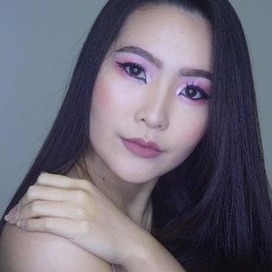 "My ""Pinky - Playful Valentine Makeup Look"" is up on my youtube channel! 🎬 Please kindly check it out ❤ - Product Used :  1. @lagirlcosmetics @lagirlindonesia concealer 2. @maybelline vivid matte by color sensational (vivid 05), blush studio cheeky glow (wooden rose) 3. @nyxcosmetics_indonesia @nyxcosmetics soft matte lip cream (amsterdam), cream blush, HD studio photogenic primer base, eyebrow cake powder (black) 4. @indonesia_etudehouse @etude_official color lips fit (fantasy fit pink) 5. Ellefar color makeup series (glitter eyeshadow) 6. Cezanne black eyeliner 7. @silkygirl_id double intense liquid eyeliner waterproof (electric blue) 8. @makeoverid @makeovercosmetics eyeliner pencil (jet black) 9. @citycolorcosmetics contour & correct cream palette, contouring palette 10. @maxfactor @maxfactorindonesia ageless elixir 2 in 1 foundation + serum (light ivory 40) 11. @covergirl ready set gorgeous foundation (medium beige 210) 12. @esqacosmetics matte lip liquid (mauvy nude) - @indobeautygram @beautybloggerid @beautybloggerindonesia @ibv_sfx #indobeautygram #indobeautyvlogger #beautyvloggerindonesia #beautybloggerid #ibvsfx #beautybloggerindonesia #clozetteID"
