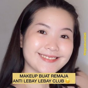 MAKEUP BUAT REMAJA ANTI LEBAY - LEBAY CLUB‼️💯 - Makeup details : @riveracosmetics luminous micro powder @mineralbotanica hydra mist brightening @moonshot_idn multi protection tinted moisture spf30 pa+++ @mineralbotanica cc cream @eminacosmetics cheek lit @somethincofficial eyebrow @mineralbotanica lip cheek eye wundercream @lookecosmetics lash elixir - #clozetteid #tiktokhacks #quarantine #tiktokmakeup #simple #indonesia #tiktokindonesia #viralvideos
