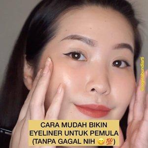Cara mudah bikin eyeliner untuk pemula (tanpa gagal nih 😋💯) - Disini aku pake eyeliner dari @somethincofficial dia bener2 warnanya hitam, matte, ujungnya lancip dan cocok buat kalian yang mau coba buat eyeliner✅. Terus concealer dan powder deh 😚 - #clozetteid #tiktokhacks #quarantine #tiktokmakeup #simple #indonesia #tiktokindonesia #viralvideos