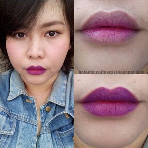 Hello there beautiful creatures! I recently purchased a purple matte lipstick. I love it so much because i it's a nice addition to my colorful lippies collection. But let's be honest, purple is not your everyday color. Even though for some of us wearing purple lippies is not a big problem, some of you probably have to gain courage just to swipe it on your lips. Check out my new blog post to know how i pair my vibrant purple lippies to tone the color down for everyday look or to level up the intensity for a bolder look. As usual, the link is on my bio! 😘😘 #purplelips #purplelippies #purplelipstick #purplegradationlips #purplegradationlips #gradientlipsideas #gradationlipsideas #softtobold #blogpost #newblogpost #bloggerbabes #beautyblogger #bloggerbabesasia #beautyenthusiast #beautylover #makeuplover #makeuenthusiast #makeupideas #makeuptutorial #everydaylips #LipsOfTheDay #FOTD #MOTD #clozetteid #bandungbeautyblogger