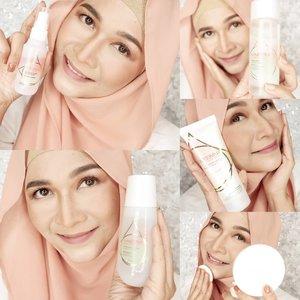 Review lengkap tentang skincare aman dan hala dari @nameeraid ada di blog aku yaa www.everonia.com  #brushedbyedelyne #indonesianbeautyblogger #beautybloggers #bandungbeautyblogger #clozetteid #nameeraskin #nameeraxclozetteidreview #instagram #skincare #hijabandmakeup #hijab