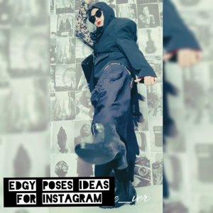 Beberapa pose untuk foto instagram, kalau aku lebih suka edgy style , lebih bebas bereksperimen dalam memakai outfit , and warna favorit aku itu sudah pasti hitam.Kali ini aku pakai kemeja , dipadukan dengan blazer hitam , tangannya dipakai cuma sebelah, di next video akan aku tunjukin yaa cara pakainya. Untuk bawahanya aku pakai rok dengan cuttingan semi balon , legging, plus sepatu boots.Ayo tag aku edgy style ala kamu 😍#ootdbyedelyne #outfitinspo #outfitoftheday #hijabstyle #edgystyle #fashionblogger #photogram #fashionhijab #hijablook #clozetteid