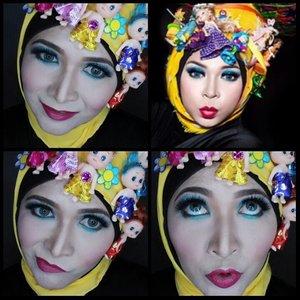 My second look for makeup contest @pac_mt. 'Playfull Makeup and Hijab Style' terinspirasi dari @melly_goeslaw,  diva yang satu ini selalu tampil nyentrik, sukaaa deh. Kali ini aku memakai Professional Makeup Kit dari @pac_mt. All Day Coverage Liquid Foundation C01, Loose Powder 06, Eye Brow Pencil 02, Pac Mascara, Pac Two Way Cake. Eyeshadow, Blush On,  dan Lipstick nya warnanya cantik-cantik Dan sangat pigmented. #ilovepac #marthatilaar #pac #paccosmetics #makeupcontest #makeupbyedelyne #hijabbyedelyne #indonesianbeautyblogger #hijabphotography #hijabstyle #hijabfashion #clozetteid #makeup #mua #muaindonesia #makeupjunkie #makeupartist #wakeupandmakeup #makeupartistsworldwide #makeupaddict #riasmuslimah #hijabstyle #hijab